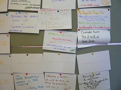 BarCamp talk board